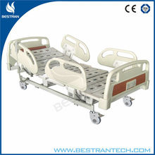 BT-AE113 three function hospital medical electric adjustable patient bed with ABS side rails