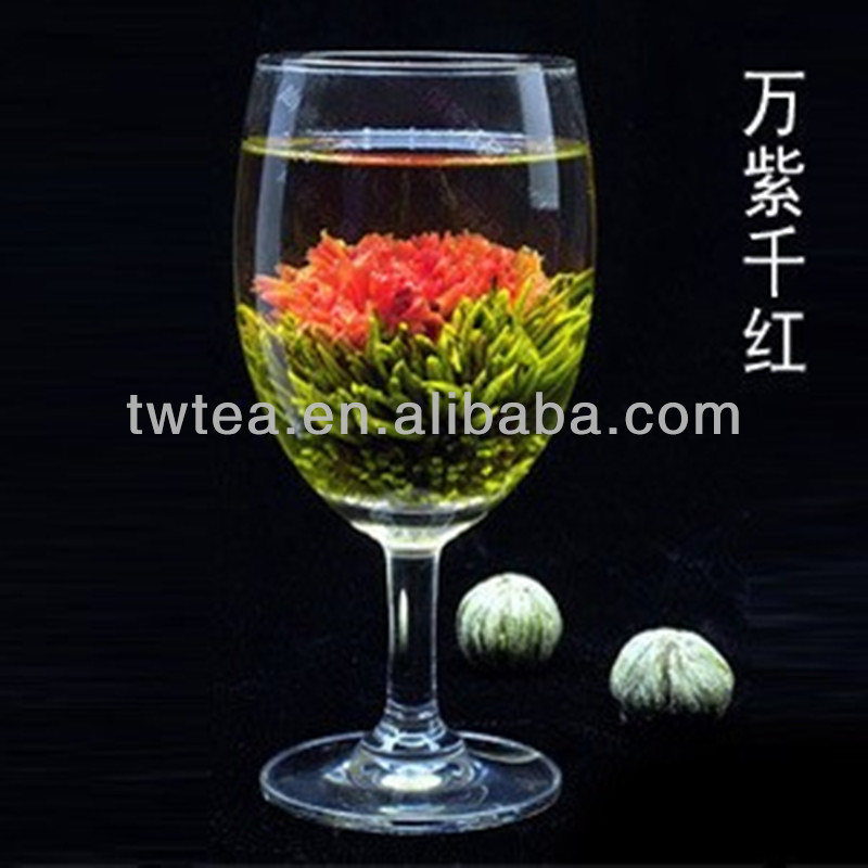 2015 new hand made blooming tea Lilies and jasmine flower