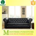 Msf-1107 qualidade superior de couro preto sofá botão
