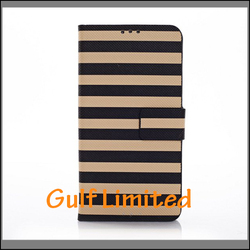 zebra-stripe PU Leather Wallet Case with stand Smart Cover For Samsung Galaxy S5