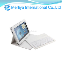 Removable Bluetooth Keyboard leather flip Case For Samsung Galaxy Note 10.1 N8000