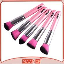 New 5pcs Make Up Brushes Cosmetic Blusher Bronzer Powder Foundation Set Kit Gift
