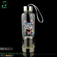hot sale new design silicone sleeve tea infuser high borosilicate tea glass bottle