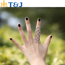 >>>2015 HOT Sale Women Rhinestone Hollow Ring Punk Finger Jewelry Alloy Gold/Sliver plated fashion Rings For Girl