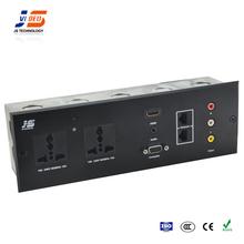 JS-WP301 AC power +HDMI+HD15 VGA + 3.5mm + USB+ RCA wall Plate