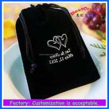 Custom Drawstring printing velvet bags