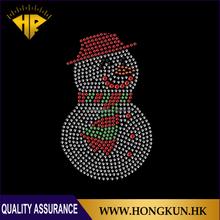 Christmas snowman motif Through transfers rhinestone hot fix for Clothing