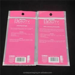 Custom Printed Ziplock Bag With Euro Hole / Mini Ziplock Bag / Small Clear Plastic Packaging Ziplock Bags