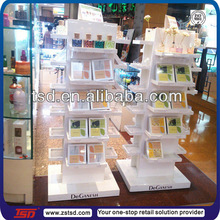 TSD-W536 wholesale freestanding four sided mac make up wooden acrylic cosmetic display