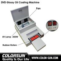 Automatic desktop cd dvd uv coating machine for hot sales