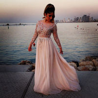 2014 hot slae scoop neckline fast delivery evening dress online shopping