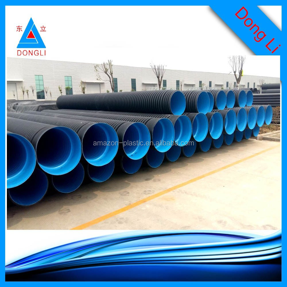 Large diameter plastic corrugated drainage pipe buy for Buy plastic pipe