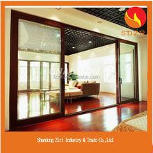 High Fashion Aluminium Frame Glass Door/Bifold Sliding Tempered Glass Window and Door/Frameless Glass Entrance Door Price
