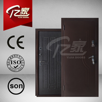 Hot sale good quality russia style wood and steel armored door design