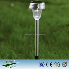 solar stainless steel light with spike