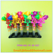 Newly 2g multicolor flowers candy toys