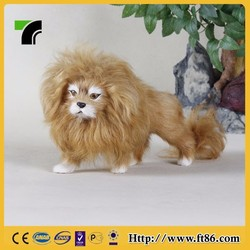 Pet products plush toy wild animal statues baby lion for sale