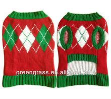 Knit Diamond Pattern Christmas Dog Sweater