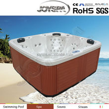 Reversible Drain Location and Whirlpool Massage Massage Type square pool