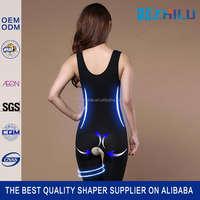 China manufacture High reflective shapewear rubber corset bodysuit