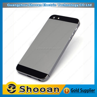competitive price brushed metal back cover for iphone 5,for iphone 5 back plate cover housing