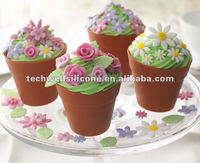 Europe hot sell silicone flower pot cake mold