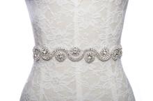 wedding dress belt bridal sash belt on satin ribbon crystal rhinestone pearl white for bride and bridesmaid engagement