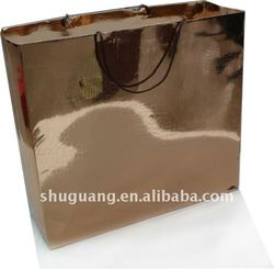 Metallic Color Glossy Paper Shopping Bag (SGZ1222)