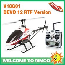 Walkera V18G01 flybarless RTF Nitro RC Helicopter with Devo 12 transmitter