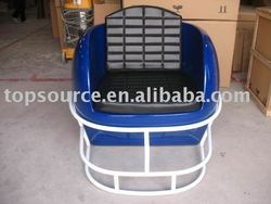 TS-A098 black PU helmet chair