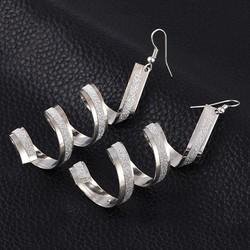 WSF151 Women Sophisticated Twist Spiral Ear drops Lady Girl Dangle Hook Earrings Jewelry dangle hook earrings