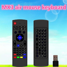 MX3 Fly Air Mouse 2.4GHz Remote Control 6-Axis inertia Sensors mini Wireless Keyboard