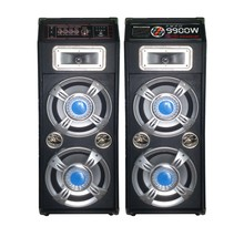 Hot selling HI FI 2.0 double 10 inch speaker with USB SD MMC card function