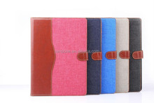 Jeans hit color wallet leather case cover for ipad 6 air 2 with stand and card slots