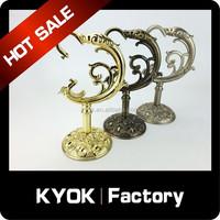 KYOK Decorative Brackets, Metal Curtain Pole Brackets, Durable Drapery Rod Wall Brackets