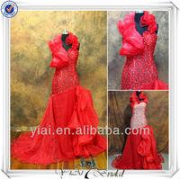 RSE60 Red Organza Ruffles Special New Arrivals 2014 Long Evening Dresses