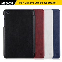 "IMUCA leather flip case cover for Lenovo A8-50 A5500/8"" tablet"