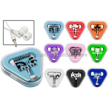 china wholesale oem odm logo printed cheap Free sample mobile earphone in case