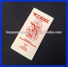 custom fashion accessories children clothes woven label/jeans clothing brand label