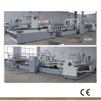 China manufacturer CE Automatic PLC Carton Machine Carton folding Glue Machine