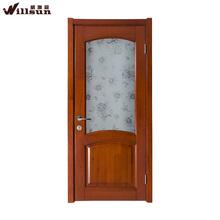Fabulous opaque decorative glass solid wood door design for kitchen door, dining room door, house door