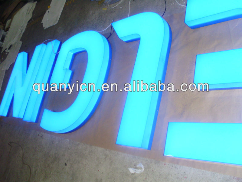 Acrylic Box Letter Making : High bright acrylic light box led channel letter