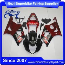 FFGSU007 China Fairings Motorcycle For GSX R1000 GSXR1000 2003 2004 Blakc&Red 2