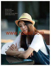 2015 Cool Foldable Sun Hat Staw Hat For Girls
