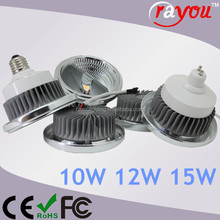 10w 15w ar111 led dimmable, reflector cob led ar111 lamp, gu10 ar111 led for indoor retrofit