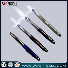 New design bottom price plastic led light ballpoint pen