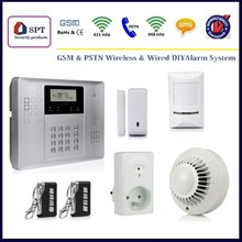 CP-21 gsm alarm system, innovation design, alarm linked with wireless sockets electronics