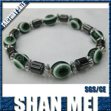 Clover Personalized Magnetic bracelet with eye beads