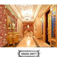 new european luxury modern style gold leaf wallpaper