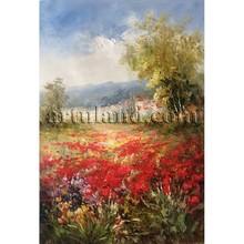 Hot sales beautiful european Tuscany landscape oil paintings